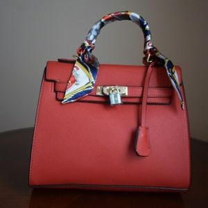 Teddy Blake Inspired Red Handbag PU Leather